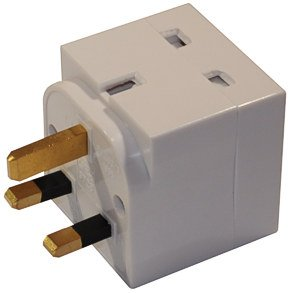 Mains adaptor plug concealing a hidden wireless GSM spy surveillance bug GENUINE SYX DEVICE ASSEMBLED IN THE UK