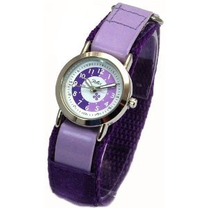 Girls Lilac/Purple Time Tutor/Teacher Velcro Watch (34c)