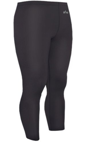 Emfraa Skin Tights Compression Leggings Running Base Layer Pants Men Women Black Xs ~ XL