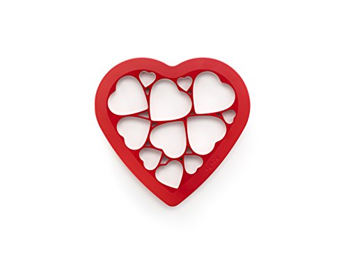 Lekue Cookie puzzle hearts, Red