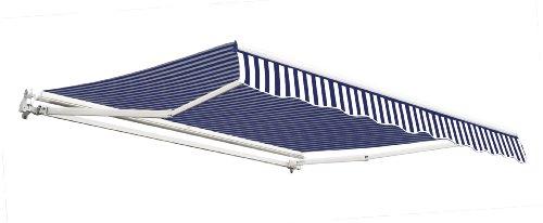 25m-gnstige-Gelenkarmmarkise-Blau-und-wei-gestreift