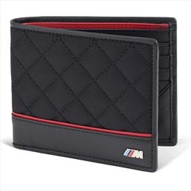 BMW Genuine Logo Men's M Performance Wallet / Black Black
