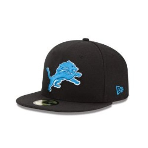NFL Detroit Lions Black and Team Color 59Fifty Fitted Cap, Black/Black, 7 1/4 at Amazon.com