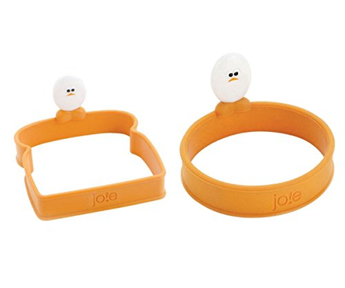 Joie Roundy Silicone Egg Ring & Joie Toast Shaped Silicone Egg Ring BUNDLE