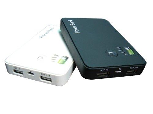 AUCOX iPhone 4S/4、iPad2、iPad対応 Double USB Power Bank 2A ブラック AX-5000B