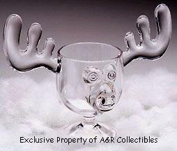 Christmas Vacation Style Eggnog Moose Mugs - Gift Boxed Set of 2 - Safer Than Glass