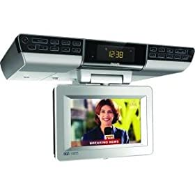 New Philips Ajl750/37 High Quality 7 Inch Lcd Under Cabinet Tv With Radio Cooking Timer & Clock