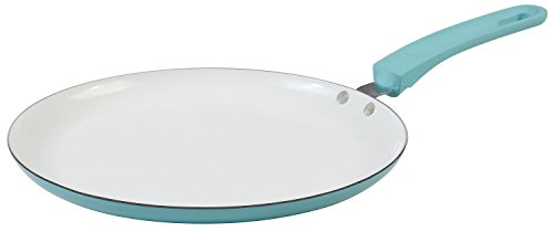 Blue Crepe Pan with Non Stick Cookware by Upstreet - designed flat pan for crepes, tortillas, and pancakes