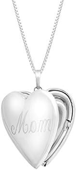 Mom Heart Locket Pendant