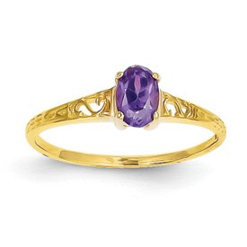 Genuine IceCarats Designer Jewelry Gift 14K February Birthstone Ring Size 6.00