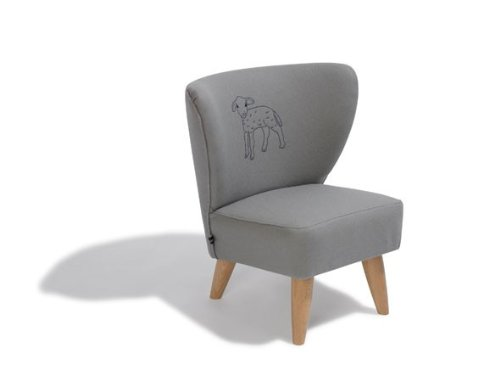 Dreams4Home Kindersessel 'Holly', 50x50x54 cm, Grau mit Schäfchen Motiv, Sessel