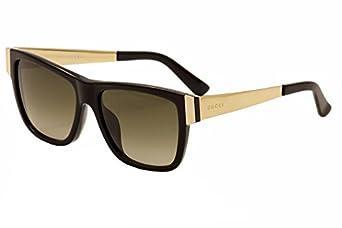 Amazon.com: Gucci Sunglasses - 3718 / Frame: Black Gold Lens: Brown