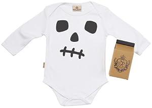 SR - Skullgro Baby Camisillas Bebé - 100% Bio-algodón - en caja de regalo de Spoilt Rotten