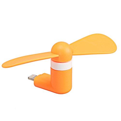 StyleTech Inc. Portable Cool Mini Rotating Fan for Micro-USB Ports Compatible with Samsung, LG, Motorola, HTC, etc. (1.) Orange)