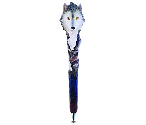 Puzzled Wolf Resin Planet Pen