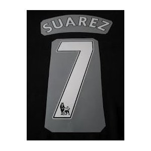 Authentic 2012/2013 Suarez #7 (Liverpool FC Home) Premier League Name and Number Football Shirt Print - Free Shipping! by Sparta-Sports