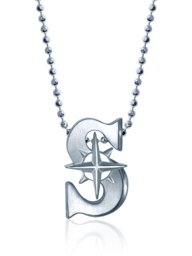 "Alex Woo ""Little MLB"" Seattle Mariners Silver Pendant Necklace, 16"" at Amazon.com"