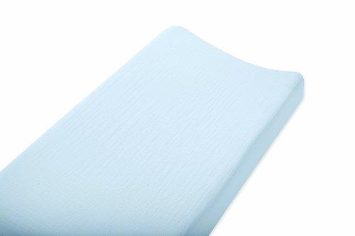 Imagen de Aden + Anais Muselina de algodón 100% Cambio de almohadilla de la cubierta, Blue Solid
