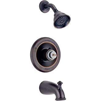 Delta Leland Pressure Balanced Tub/Shower Trim, Venetian Bronze (T14478-RBLHP)