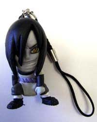 NARUTO: Orochimaru figure Cellphone / Key chain Charm + Pin