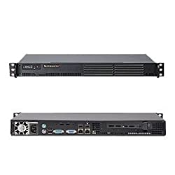Supermicro System Barebone SYS-5015A-EHF-D525 1U Atom D525 DDR3 Intel 82574L PCI-E x4 200W Retail