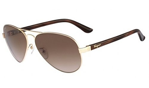 Salvatore Ferragamo SF123SA Sunglasses-716 Gold (Brown Gradient Lens)-62mm