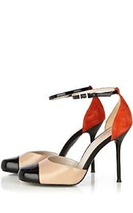 Colorblock Ankle Strap Shoe