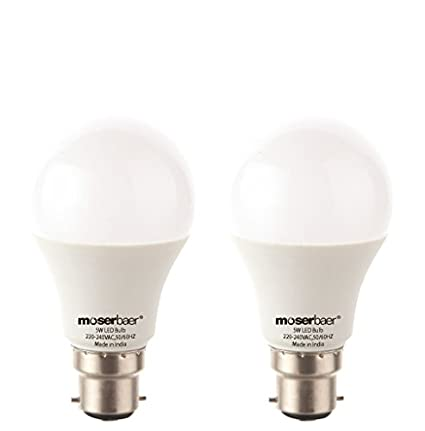 Moserbaer-Eco-Pin-Type-5W-LED-Bulb-(Cool-White,-Pack-Of-2)