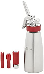 iSi Gourmet Whip Plus, 1-Pint, Brushed Stainless Steel, Cream Whipper