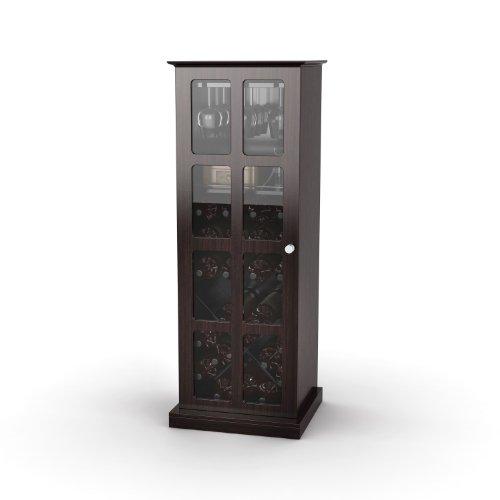 Atlantic 94835842 Windowpane 24 Wine Cabinet In Espresso front-619215