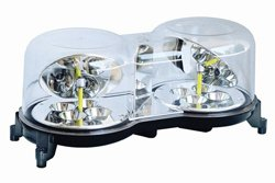 Strobe Light Bar Clear Amber Amber Led Hybrid Mini-Bar