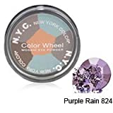 NYC MOSAIC EYE POWDER COLOR WHEEL #824B PURPLE RAIN