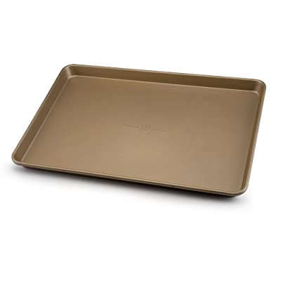 Paula Deen Signature Nonstick Bakeware 13-Inch-by-18-Inch Cookie and Baking Sheet, Champagne