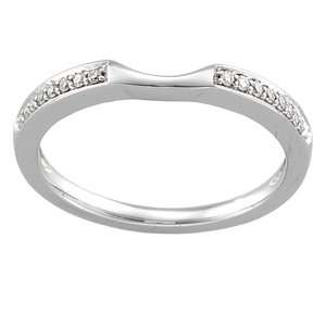 Elegant and Stylish 1/10 ct. tw. Band for Bridal Engagement Set in 14K White Gold ( Size 6 ), 100% Satisfaction Guaranteed.