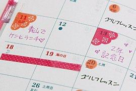 エーワン 手帳用シール フレーム&ラインマークシール ローズ 05173【5セット】