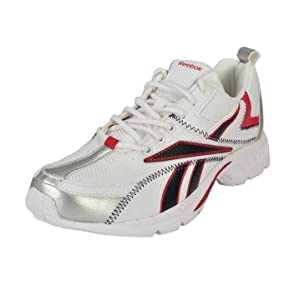 Reebok J89468 White_Fl Red_Navy | Size ( UK / India ) 7