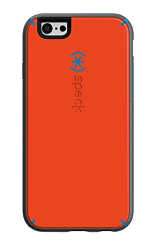 Speck Products Mighty Shell Plus FACEPLATE Case for iPhone 6  - Retail Packaging - Carrot Orange/Speck Blue/Slate Grey