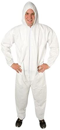 The Safety Zone White Polypropylene Disposable Coverall With Hood