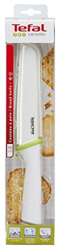Tefal Accessoires 1998645 Zen Couteau à Pain Céramique Blanc 16 cm