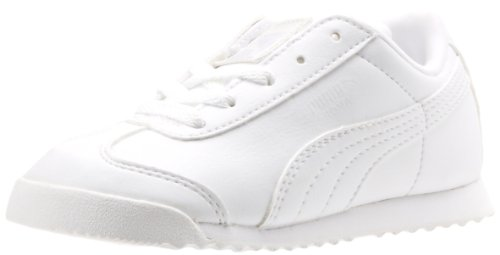 PUMA Roma Basic Fashion Sneaker(Todlder/Little Kid/Big Kid),White/Light Gray,9 M US Toddler