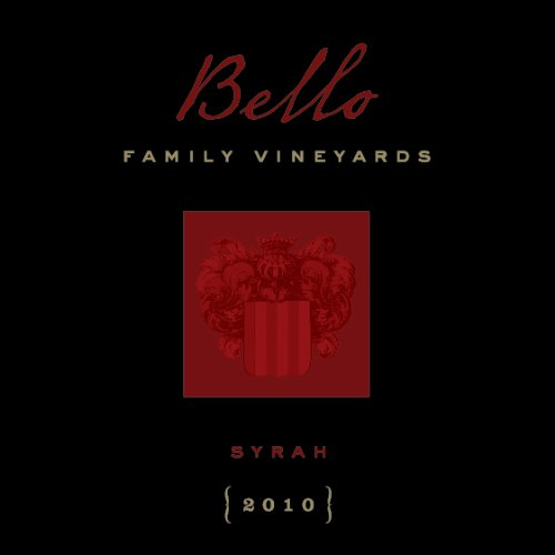 2010 Bello Family Vineyards Napa Valley Syrah 750 Ml
