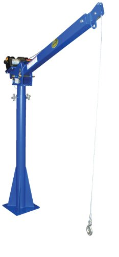 "Vestil Wtj-20-4-Dc 12V Dc Power Lift Jib Crane, Steel, 2000 Lb. Capacity, 46' Cable Length, 68-13/16"" Height"