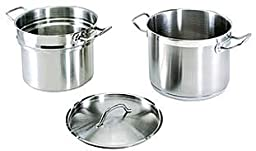 20 Qt. 18/8 Stainless Steel Double Boiler with Cover Lid Commercial Professional Grade NSF
