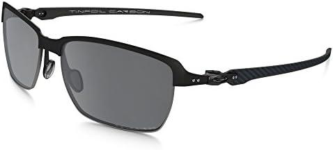 Oakley Men39s Tinfoil Carbon Polarized Iridium Rectangular Sunglasses