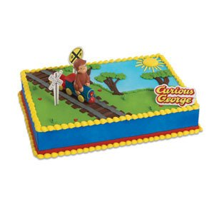 "Bakery Crafts - Curious George Train Cake Decorating Topper Kit, Train:4""x3"""