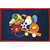 Fun Time Sports America 19x29 Play Time Nylon Area Rug GI-51 1929