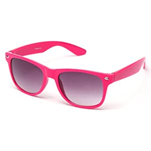 80's Classic Blue Brothers Pastel Colored Wayfarer Styles Vintage Retro Sunglasses in Hot Pink