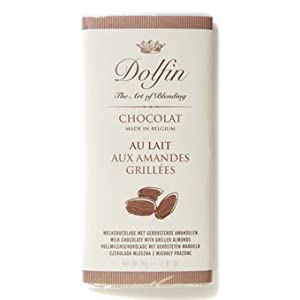 Dolfin Milk Chocolate Bar with Grilled Almonds-70g