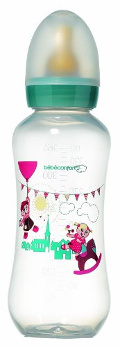Bebeconfort Prince Collection 2012 30000672 Feeding Bottle Curved Pp Latex 3 Flow Rates 360 Ml front-398784