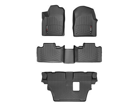 2013-2015 Dodge Durango Black Weathertech Floor Liner (Full Set: 1st, 2nd, and 3rd Row Mats) [Second Row Bench Seating] (Weathertech Durango compare prices)